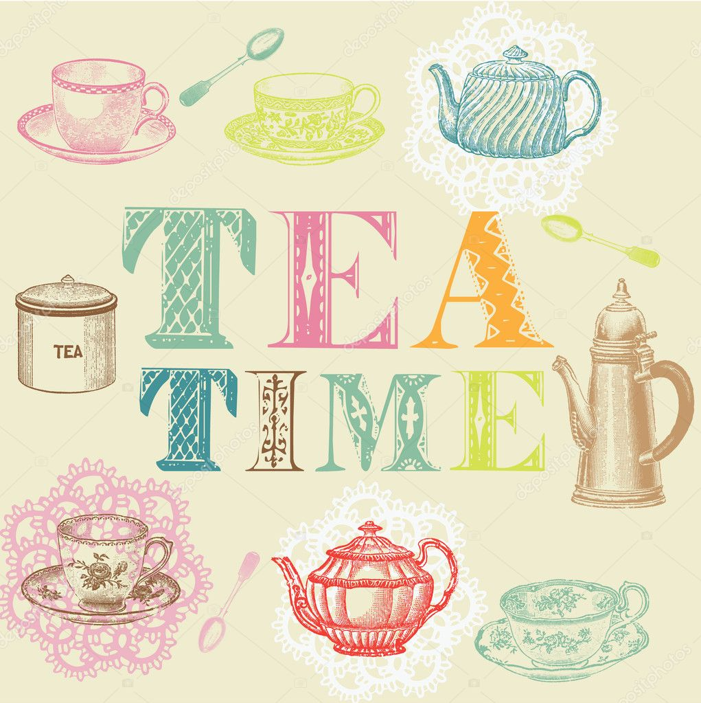 Tea time set  — Stock Vector #3880348