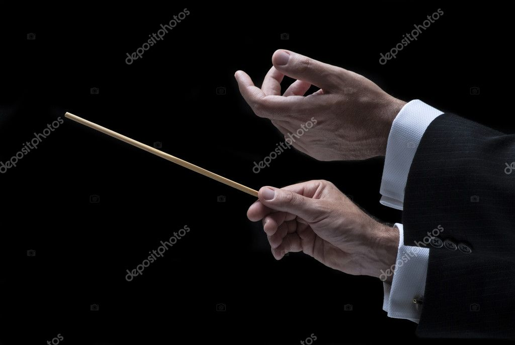 Music conductor — Stock Photo #3848441
