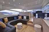 Italy, sicily, Naples, luxury yacht, dinette, Abacus 52' — Stock Photo