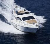 イタリア、シチリア島、パナレーア島、豪華ヨット、航空写真ビュー — ストック写真
