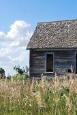 Lilla huset på prärien kansas — Stockfoto