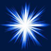 Blue light, star burst, abstract lens flare, fireworks — Stock Vector