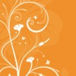Floral orange background with swirls — Stock Vector #3876421