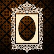 Royalty-Free Stock Vector Image: Decorative oval vintage frame