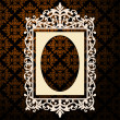Decorative oval vintage frame - Stock Vector