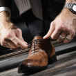 Stock Photo: Leather shoes