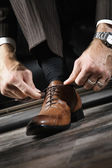Leather shoes — Stock Photo