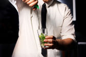 Barman and drink — Stock Photo