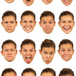 Useful facial expressions — Stock Photo
