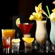 Stock Photo: Drinks on bar