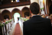 Groom waiting — Stock Photo