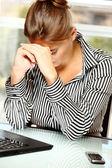 Mladá žena depresi — Stock fotografie
