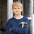 Stock Photo: Boy with Hammer