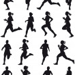 Running girl - Stock Vector