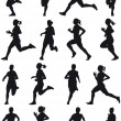 Stock Vector: Running girl