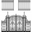 Royalty-Free Stock Vector Image: Gate and Fences