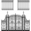 Gate and Fences - Stock Vector