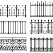 Stock Vector: Railings and fences