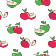 Seamless apples pattern — Stock Vector