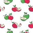 Royalty-Free Stock Vector Image: Seamless apples pattern