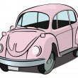 Beetle car — Stock Vector
