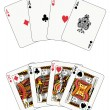 Poker aces and kings — Stock Vector