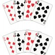 Stock Vector: Poker ten and nine