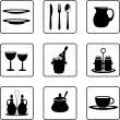 Tableware — Stock Vector