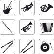 Royalty-Free Stock Vector Image: Musical Instruments
