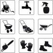 Stock Vector: Garden equipment