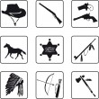 Royalty-Free Stock Vector Image: Old West symbols