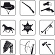 Old West symbols — Stock Vector