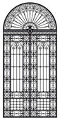 Wrought iron portal — Stock vektor