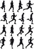 Running girl — Stock Vector