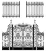 Gate and Fences — Stock Vector