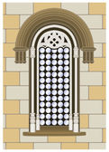 Gothic-Renaissance window — Stock Vector
