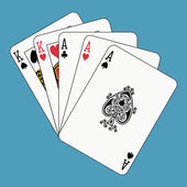 Full house aces and kings — Stock Vector