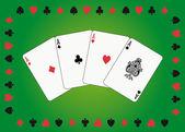 Aces poker — Stock Vector