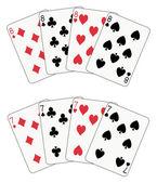 Poker otto e sette — Vettoriale Stock