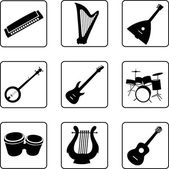 Musical Instruments — Stock Vector