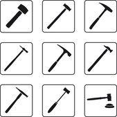 Hammers — Stock Vector