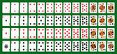 Karty do gry pokera, pełnej talii — Wektor stockowy