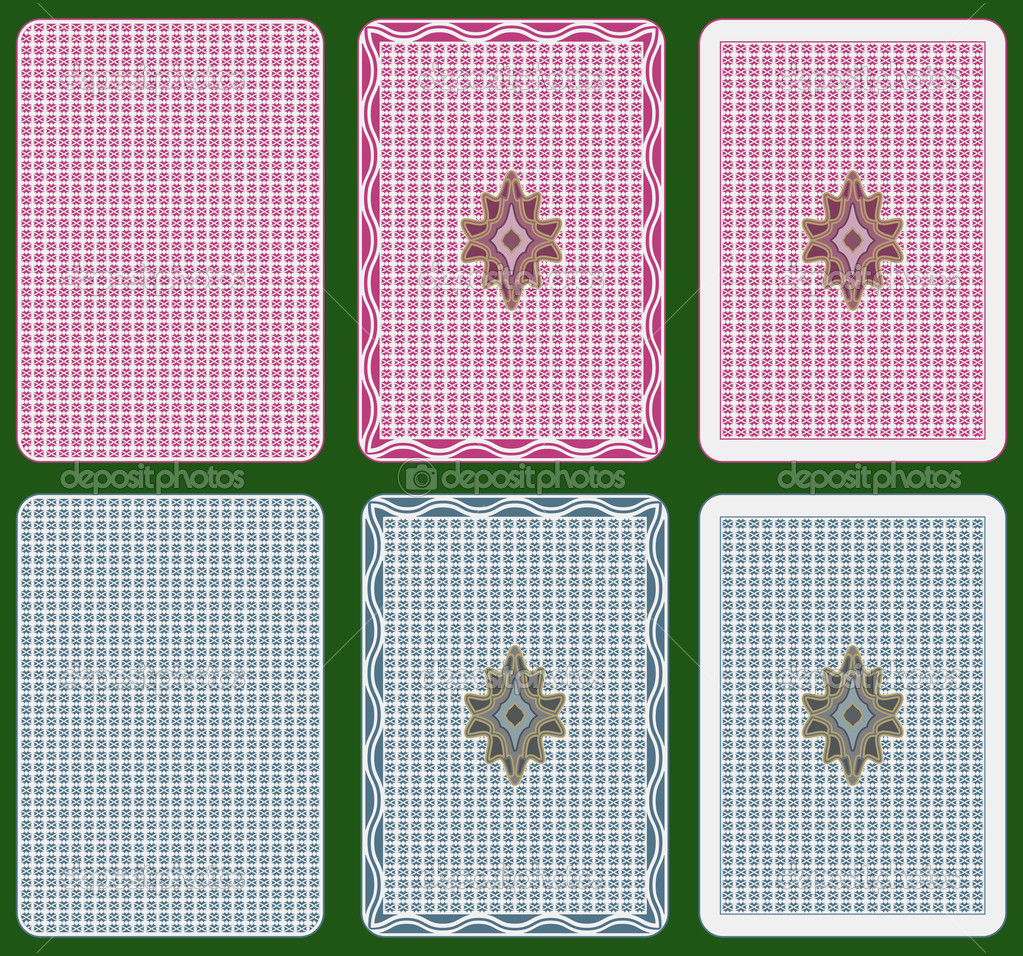 Playing cards back abstract design, two colours, three different arrangements  Imagen vectorial #3902310
