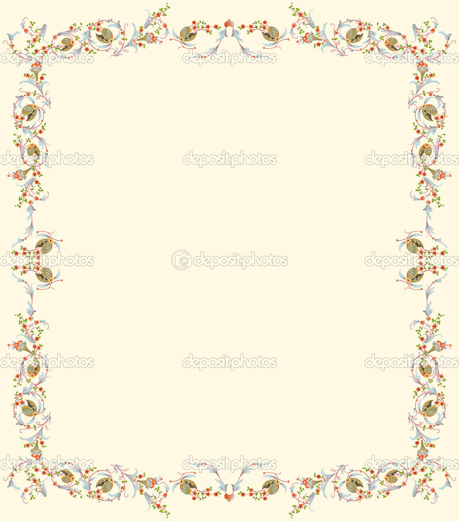 Floral frame ready for text; design inspired by retro decoration — Stock Vector #3902745