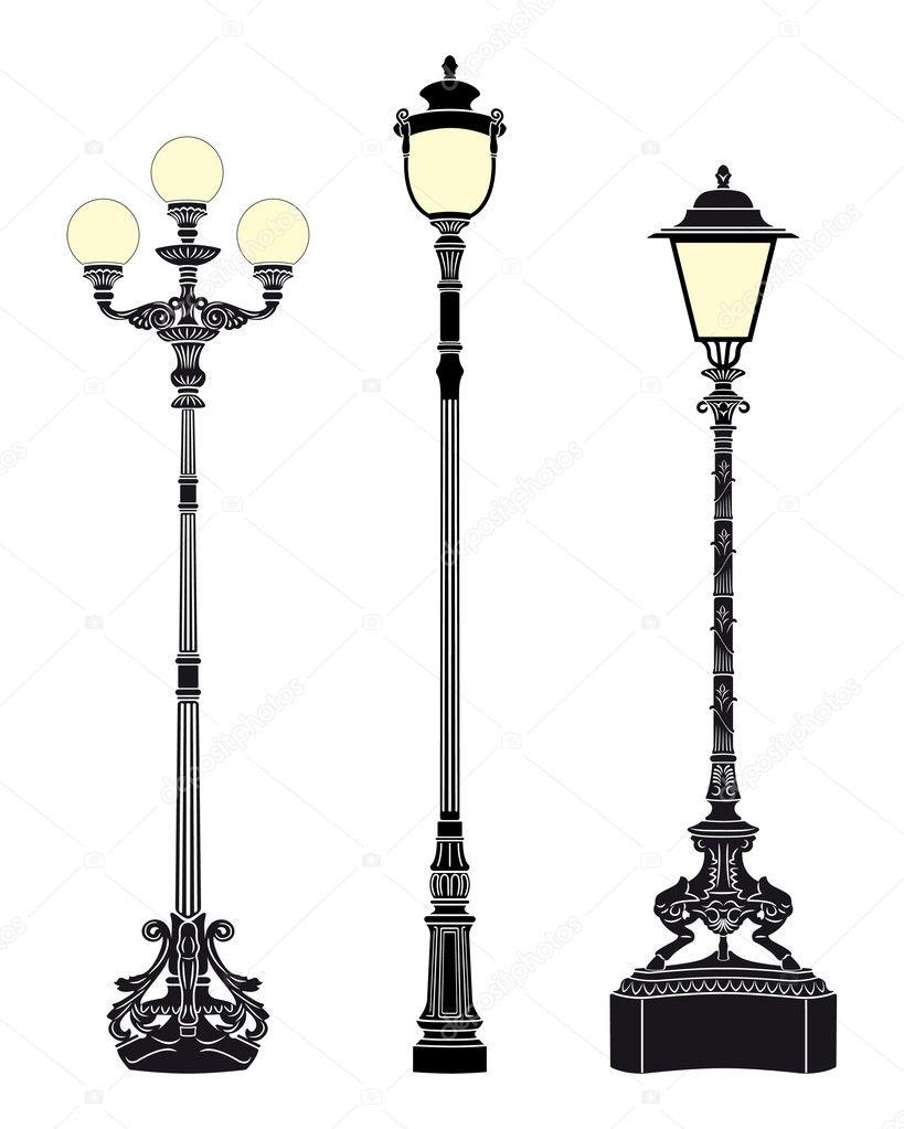 street light vector. Black Bedroom Furniture Sets. Home Design Ideas
