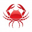 Red glossy crab — Stock Vector #3882441