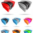 3d Abstract Icon Series - Set 3 — Stock Vector