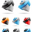 3d Abstract Icon Series - Set 5 — Stock Vector