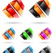 3d Abstract Icon Series - Set 6 — Stock Vector