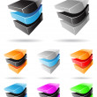 3d Abstract Icon Series - Set 8 — Stock Vector